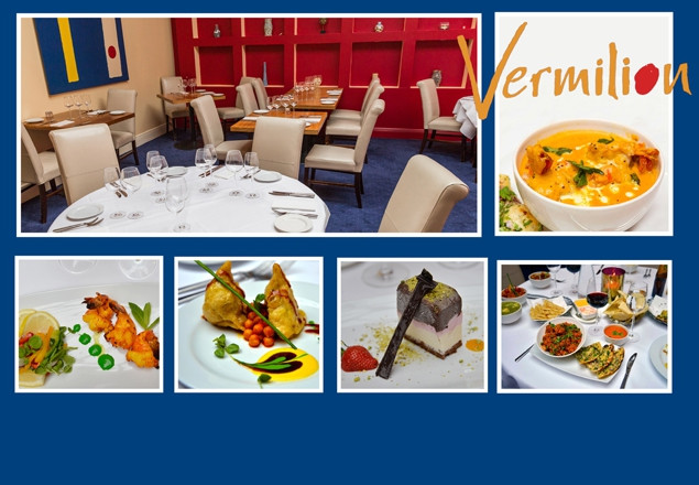 Vermilion 3 course meal for 2 with house wine